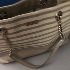Kate spade patent leather cream and tan bag